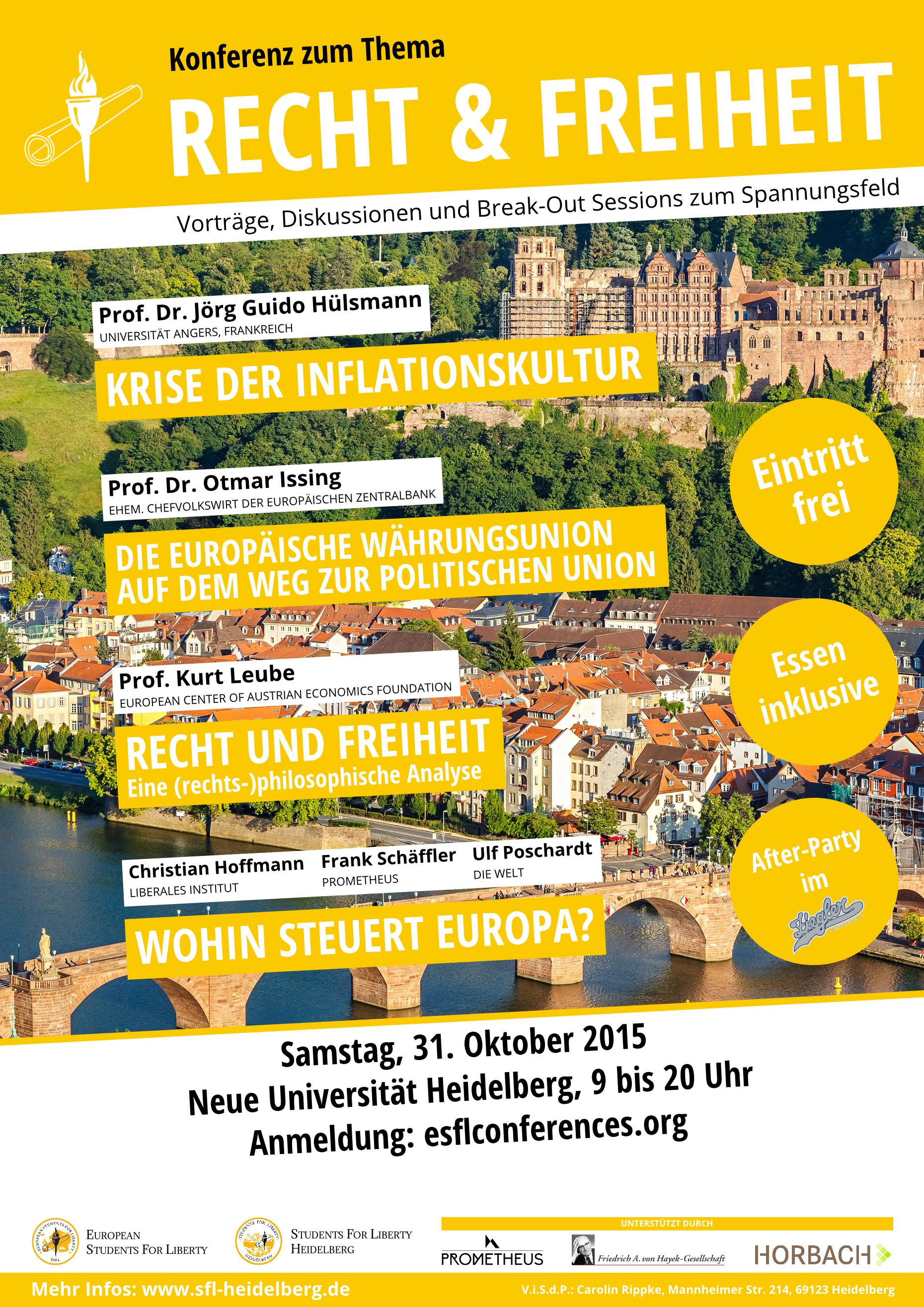 Zur Symbiose von Recht und Freiheit – Heidelberg, 31.10.2015